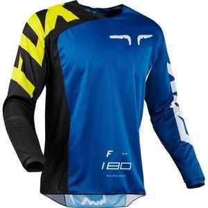 FOX спуске одежда 2020 новый горный велосипед езда костюм рубашка с длинным рукавом летом внедорожных мотогонок костюм быстросохнущие рубашку с длинными С.Л.