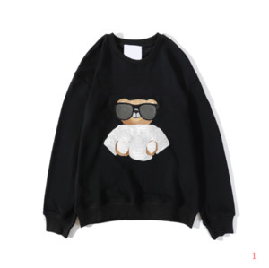 Mxxxxino Ours Hommes Hoodie garçons Mode New lettres de broderie Sweatshirt Casual Trendy Hiphop overs 20FW Hommes Vêtements Terry Taille M-2XL
