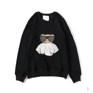 Mxxxxino para hombre con capucha del oso muchachos de la manera nuevas letras bordado de la camiseta para hombre 20FW Jerseys Moda casual Hiphop ropa Terry tamaño M-2XL
