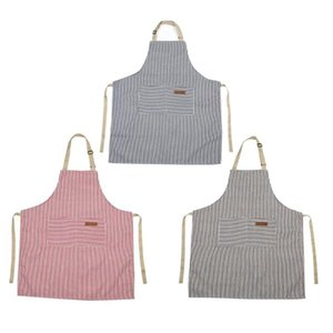 Stripes Apron Adjustable Cotton Canvas Cooking Baking Kitchen Home Supply Support Dropshipping