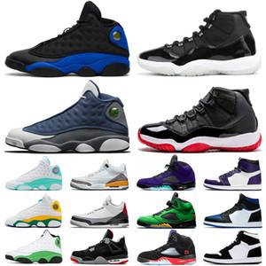 13s 11s 5s Zapatillas jumpman Новые прибывают корт пурпурные мужские 13s Баскетбольные кроссовки 13 мужские Hyper Royal Альтернативный черный