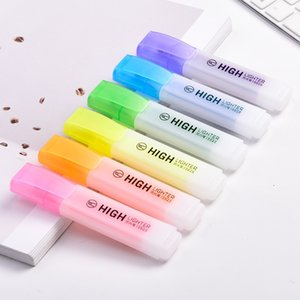 Transparent Taille Jumbo couleur surligneur pour les accessoires papier Fax Copy Marker Liner spot Fournitures de bureau école F070