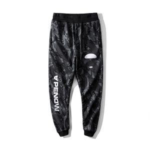 Конструктор мужской брюки осень Стиль Марка Брюки шаблон Printed Mens Casual Solid карманных штаны Мода Марка Спорт Длинные брюки Камуфляж