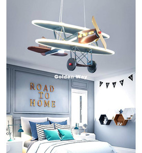 Newly Children Cartoon Air Plane Kids Pendant Light Baby Boys Girls Children Kids Room Light Bedroom Lamp Nursery Decorative Lighting