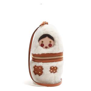 Designer-russische Puppe Plüsch HandBags 2019 weibliche 9a11c Samtbeutel-Schulter-Schul kleine Mini-Tasche Damentaschen Designertaschen crossbodyb