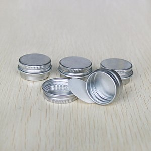 100pcs lot 5g 10g 15g 30g 50g Aluminum Jars Empty Cosmetic Makeup Cream Lip Balm Gloss Metal Tin Containers