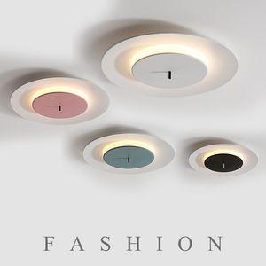 LED Macaron moderno luzes de teto do Iron Acrílico crianças sala de teto lâmpadas quarto Nordic luminárias corredor