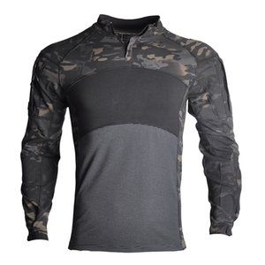 US Army Tactical Uniform Camouflage Combat-Proven Shirts Rapid Assault Long Sleeve Shirt Hunting Battle Strike
