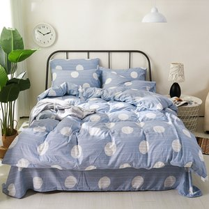 free delivery Washed cotton four-piece bedding, naked sleeping sheets, duvet cover, 2-piece bedding, 3-piece bedding, thick dust cover