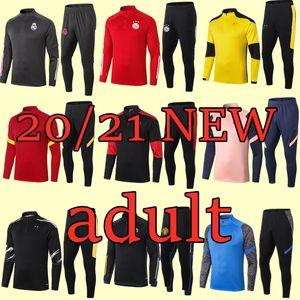 Yeni 20 21 Marsilya Erkekler futbol antrenman eşofman Real Madrid futbol antrenman takım elbise 2020 2021 Paris MBAPPE survetement de ayak chándal jogg
