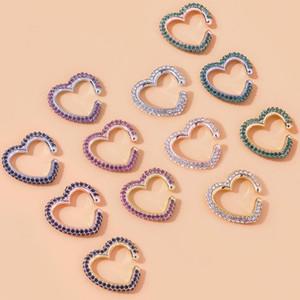 20 Стили Мужские серьги Женщины Аксессуары Модельер Простой искусственный алмаз C образный зажим на Earings Подвески для изготовления ювелирных изделий
