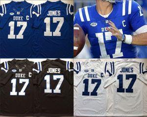 Duke Blue Devils Football genäht NCAA Jersey Männer Frauen Jugend Ben Wyatt AJ Reed Max McCaffrey Jamison Crowder Daniel Jones Myles Hud