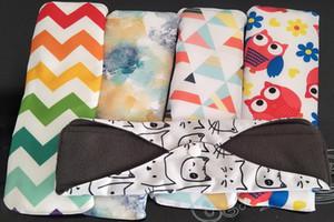 19*21cm 10pc Lot Organic Bamboo Inner Washable Reusable Feminine Hygiene Menstrual Pads Sanitary Pads Lady Cloth Pad Panty Liner