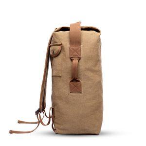 Многофункциональный Military Tactical Canvas Рюкзак Мужчины Мужчины Big Army Bucket Bag Спорт на открытом воздухе Duffle перемещения мешка рюкзака