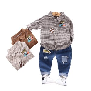 New Spring Children Fashion Clothes Baby Boys Girls Print T Shirt Pants 2Pcs sets Kids Infant Clothing Toddler Casual Sportswear X0923