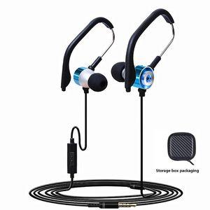 GDLYL Música Headphone Wired Sprot Em ouvido com microfone dos auriculares de 3.5mm cabo Heavy Metal Baixo Som Auscultadores
