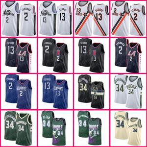 Giannis Kawhi Antetokounmpo Leonard MilwaukeeBucksJerseys LAClippersJersey Paul 13 George Ray 34 Allen Basketball