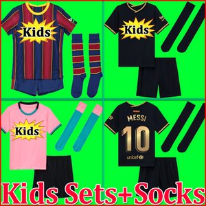 top thailand quality 20 21 soccer jersey camisetas futbol 2020 2021 BAR football kit shirts kids sets with socks boys kits