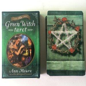 Jugando 78pcs The Green Witch Tarot de Junta regalos Regalos Juego de Mesa Entretenimiento en fiestas