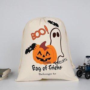 حار بيع هالوين كيس كبير أكياس العضوية الثقيلة كاندي قماش سانتا كيس الرباط حقيبة للهدايا للأطفال