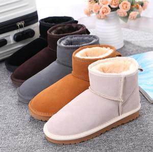 2020 inverno Hot vender curto clássico Mini 58541 Bota de Neve Mulheres populares em Couro Moda Mulheres de botas de neve Botas