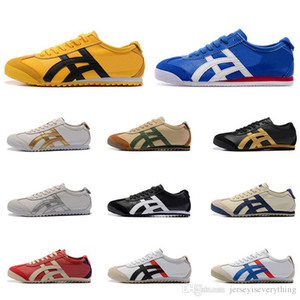 New Asic Onitsuka Tiger Running Shoes Womens Bruce Mens lee vermelho branco confortável apartamento Athletic Trainers Outdoor Sports Sapatilhas 36-44