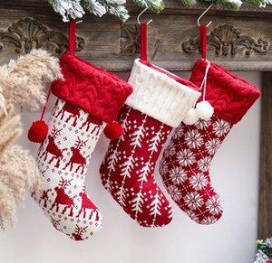 decoration supplies kids gift socks, christmas gifts holder Xmas stocking glitter