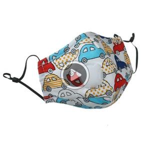 Los niños de algodón de salida qlity Máscara niños Máscaras Fa de dibujos animados con filtro de carbón activo respiradero Vae PM2