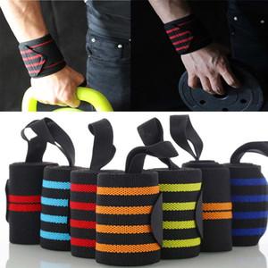 Handgelenkstütze Gym Gewichtheben Trainings Gewichtheber-Handschuhe Bar Grip Barbell Straps Wraps Handschutz Wrap Tennis Baumwolle