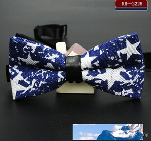 fashion high-grade bow tie cotton cowboy printing Set bow ties for men necktie royal family tie core and the wedding supplies 13