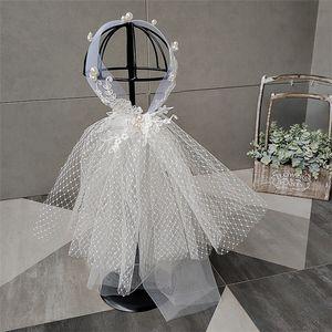 Die neueste und angesagteste bräutlichesheadwear Haar und Schleier ein hochwertiges Perle Zirkon weichem Stretch-Garn handgemachte bördelnde Partei accesso