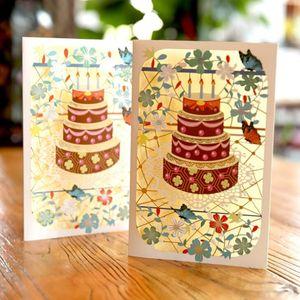 محفظة 5pcs ديي جديدة عيد ميلاد بطاقة بريدية منتصف الخريف مهرجان الأطفال بطاقة التخرج الموسم يدويا تحية الإبداعي CARDS صغيرة مخصصة