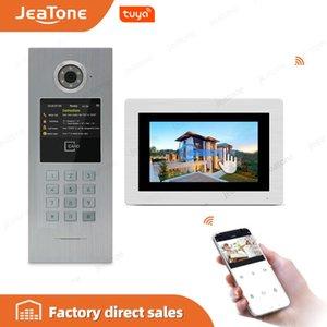 7'' WIFI Customized IP Video Door Phone Intercom Wireless DoorBell Building Security Access Control System with Password IC Card