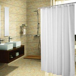 Polyester-Gewebe Duschvorhang mit 12 PC Hooks Wasserdichte Plastikbadewannenabtrennungen Fest Farbe umweltfreundliche Duschvorhang