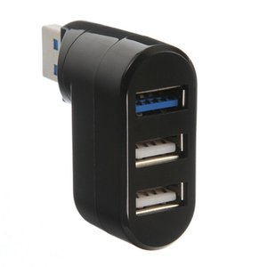 Drehbare Mini Adapter 3 Ports USB 2.0 + USB 3.0 Notebook / Tablet / Notebook-Computer-Hub - Schwarz