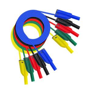 10pcs Fiche banane Banana - Multimètre test de câbles Leads / Test sonde - Longueur 100cm, coloré