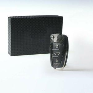 For Audi A1 A3 S3 Q3 TTS High quality carbon fibre Remote Control Car Key Case wallet Bag Cover