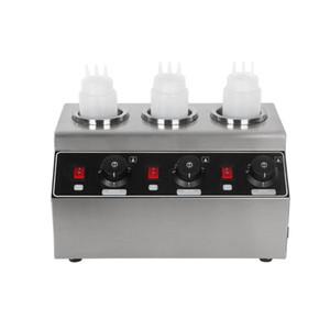 ITOP Elektro-Triple-Soße-Flaschen-Wärmer Hot Chocolate Käse Schokolade 3 Flaschen Warming-Maschine Spender Melter Maschine