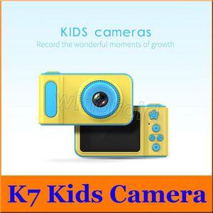cgjxsK7 الاطفال كاميرا 2 0.0 بوصة الصور الرقمية ومسجلات كاميرا الفيديو 1080p HD كارتون الأطفال لطيف كاميرا هدية عيد ميلاد للمنازل السفر فو