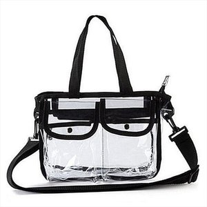 Cosmetic Bags Women Summer PVC Shoulder Bag Handbag Travel Tote Cosmetic Beach Toiletry Storage Case
