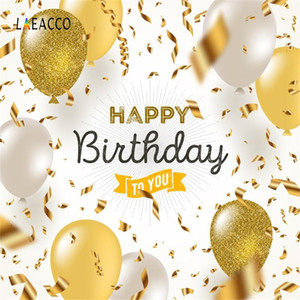 Laeacco Balloon Happy Birthday To You Party Ribbon Baby Customized Banner Photography Background For Photo Studio Photo Backdrop