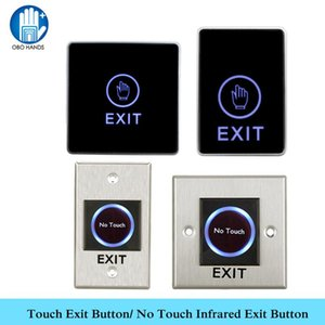 OBO MAINS capteur tactile Bouton de sortie infrarouge Non tactile Bouton poussoir de sortie pour Contactless Accueil Porte de contrôle d'accès système de verrouillage