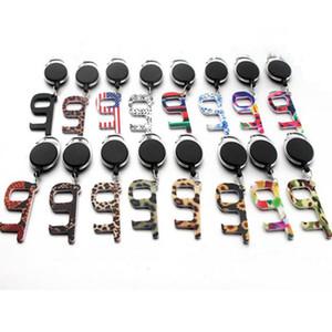 Portable EDC Keychain Ascensore Buttons senza contatto strumento di Porta Impugnatura chiave di protezione di sicurezza di isolamento No-Touch Opener auto Anello IIA552