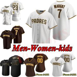 23 Fernando Tatis Jr. San Diego Padres maillots baseball 13 Manny Machado 19 Tony Gwynn rétro coutume 2020 Nouvelle saison Jersey