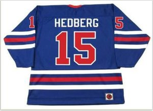 Custom Men Youth women Vintage #15 ANDERS HEDBERG Winnipeg Jets 1974 WHA Hockey Jersey Size S-5XL or custom any name or number