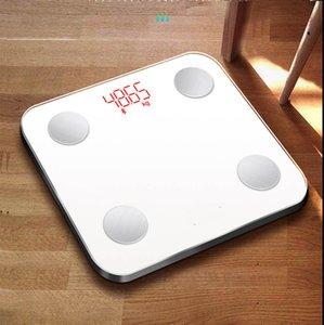 2020 escala de grasa vendedor caliente de Bluetooth Cuerpo Electrónico Peso Corporal APP inteligente escala del hogar escala de grasa con suficiente inventario al por mayor