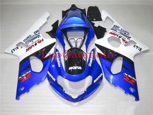 Le kit de haute qualité pour SUZUKI GSXR1000 K1 K2 GSXR 1000 00 01 02 GSXR1000 2000 2001 2002 carrosserie BLEU BLANC # 238YD