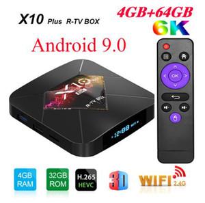 X10 Plus Android 9.0 Smart TV Box Allwinner H6 2.4G WiFi 4GB 32GB 64GB Set Top Box USB3.0 H.265 6K Media Player