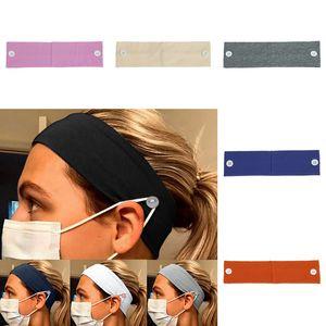 Gesichtsmaske Stirnband-Ohr-Schutz Frauen Männer Mädchen Gym Sport Yoga Hair hairlace Headress Cotton-Haar-Zusätze Knopf Stirnband