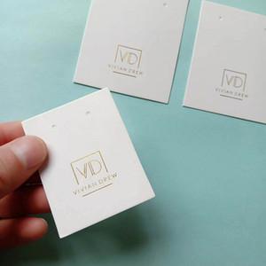الجملة 1000PCS / lot القرط مخصص بطاقات قلادة مع الشعار الخاص بك - كرتون ورق التغليف عرض مجوهرات بطاقات   الكلمات T200808
